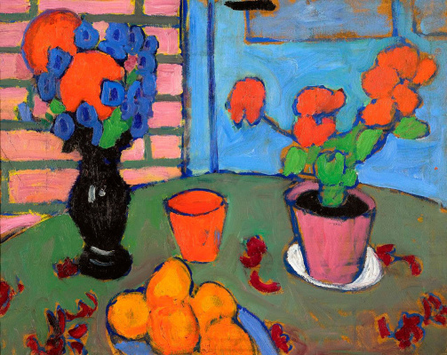 Alexey Georgievich Yavlensky. Still life with flowers and oranges