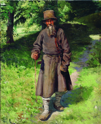 Nikolay Aleksandrovich Yaroshenko. Peasant in the forest. 1880-1890s