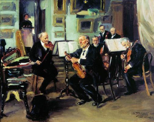 Vladimir Egorovich Makovsky. Musical evening