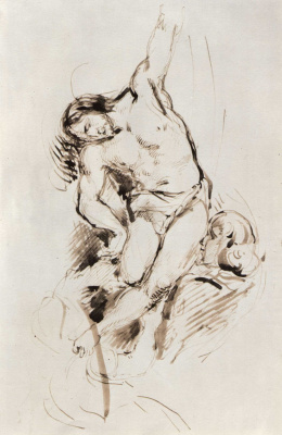 Eugene Delacroix. The descent from the cross