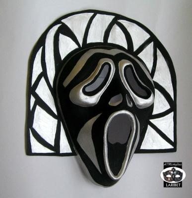"Tatyana Turanova. Carnival mask ""Shards of Creek"""