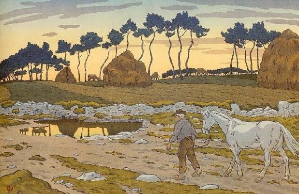 Анри (Henri) Ривьер (Rivière). Сумерки (Le Crépuscule)