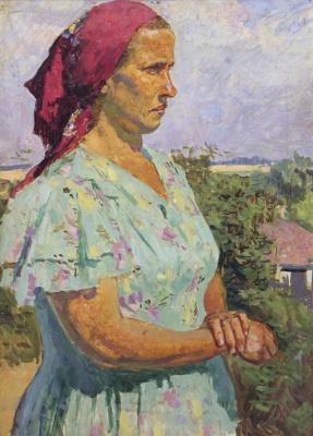 Sergey Vasilyevich Gerasimov. Portrait of a peasant woman