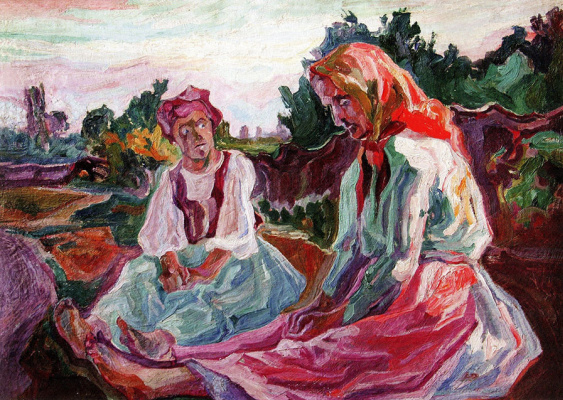 Alexey (Oleksa) Novakovsky. Two old women contemplate death