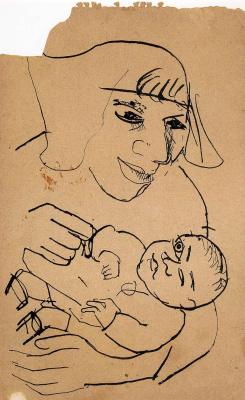 Lucien Freud. Sketch