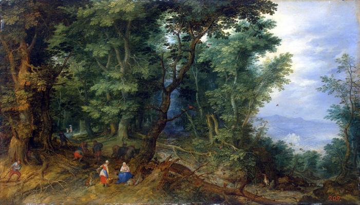 Jan Bruegel The Elder. Forest landscape