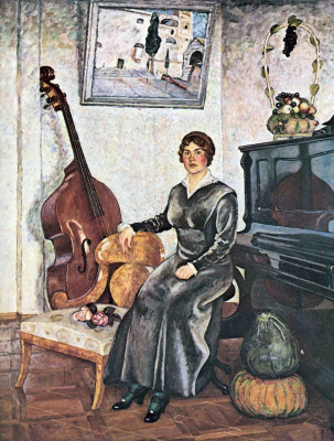 Ilya Ivanovich Mashkov. The lady with the double bass