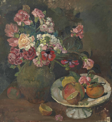 Balthus (Balthasar Klossovsky de Rola). Still Life with Flowers and Fruits