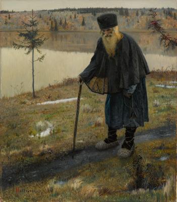 Mikhail Vasilyevich Nesterov. The hermit