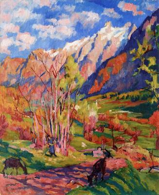 Giovanni Giacometti. Autumn landscape