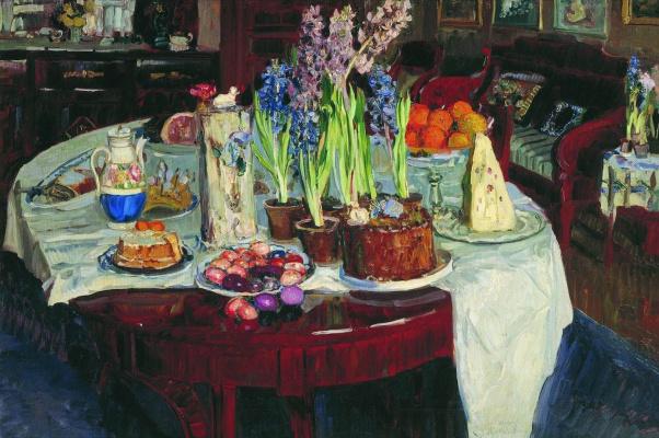 Stanislav Yulianovich Zhukovsky. Easter still life
