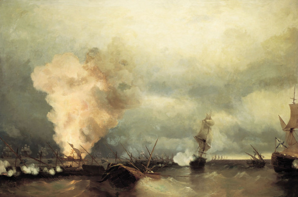 Ivan Aivazovsky. Naval battle of Vyborg on June 29 1790