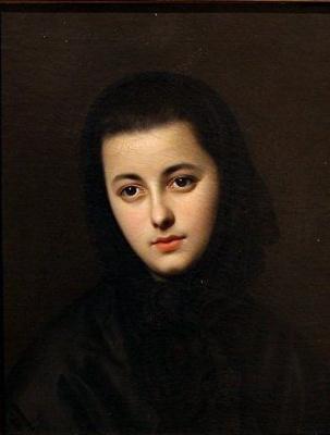 Леонид Флорианович Жодейко. Портрет молодой женщины