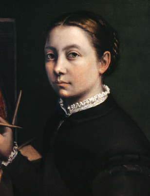 Sofonisba Anguissola. Self-portrait near the easel