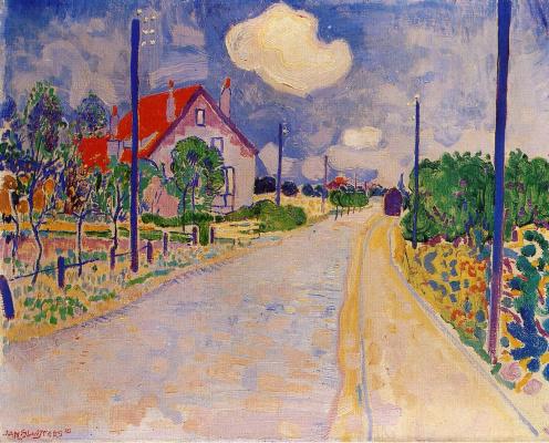 Ян Слёйтерс. Вид на дорогу
