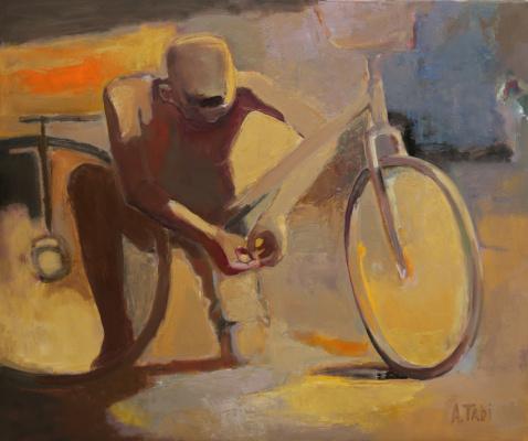 Азат Табиев. Мальчик с велосипедом