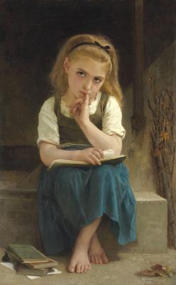 Адольф Бугро Вильям. Трудный урок. 1880