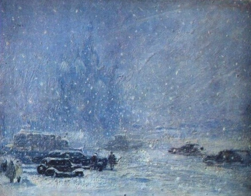 Yuri Ivanovich Pimenov. It's snowing