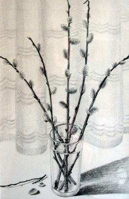 Vladimir Vasilyevich Abaimov. The Spring Willow