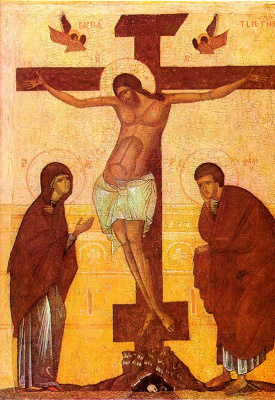 Icon Painting. The crucifixion