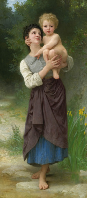 William-Adolphe Bouguereau. Brother and sister