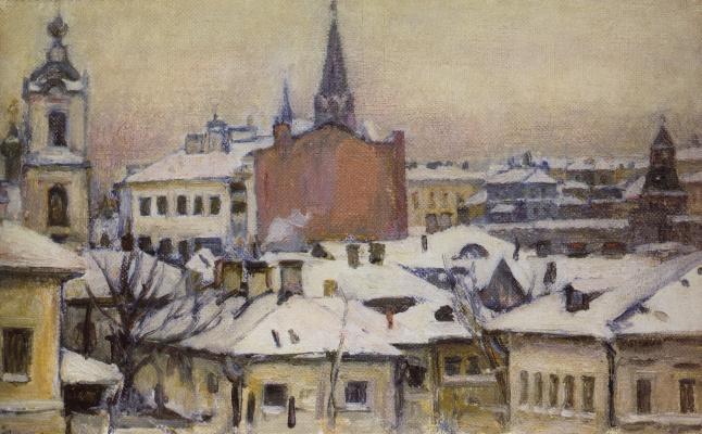 Василий Иванович Суриков. Вид на Кремль
