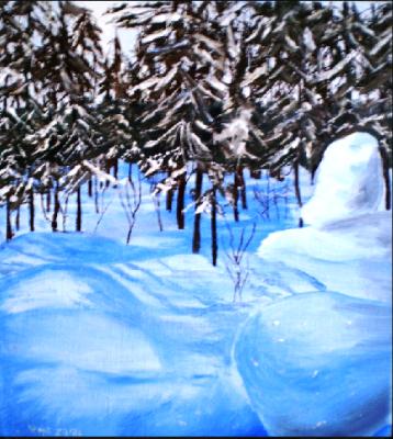Vladimir Adamovich Ropot. Snowy winter
