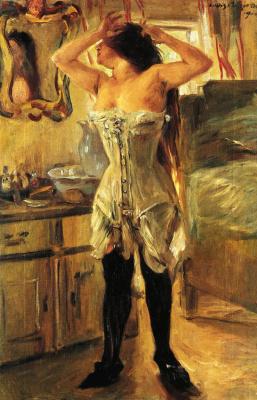Lovis Corinto. In a corset