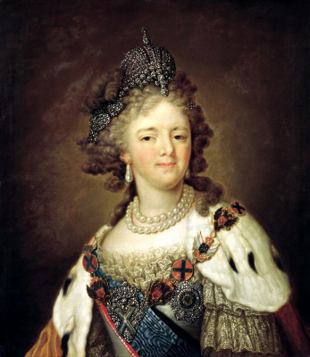 Vladimir Lukich Borovikovsky. Portrait of Empress Maria Feodorovna