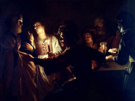 Геррит ван Хонтхорст. Отречение апостола Петра