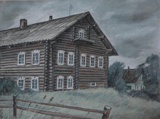 Irina Soboleva. Old house in Ulitina Novinka
