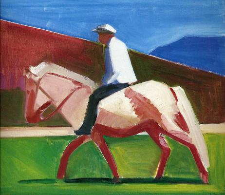 Мужчина на лошади