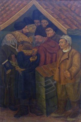Григорий Авксентьевич Довженко. Куркули у попа