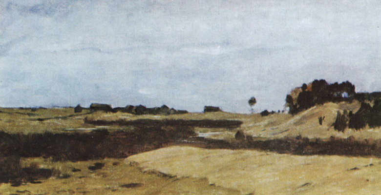 Isaac Levitan. Field. A sketch for the painting of the same name
