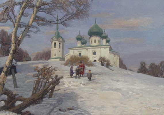 Фёдор Борисович Фёдоров. Зима в Старой Ладоге