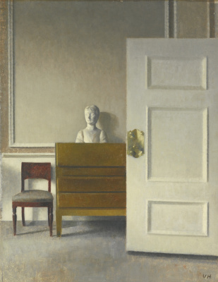 Vilhelm Hammershøi. Interior with a bust