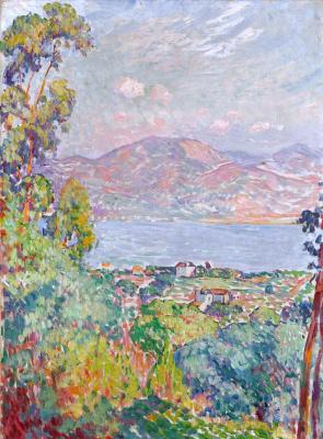 Анри Лебаск. Вид на залив в Сен-Тропе
