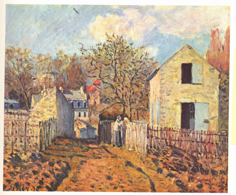 Alfred Sisley. The neighbors in the village