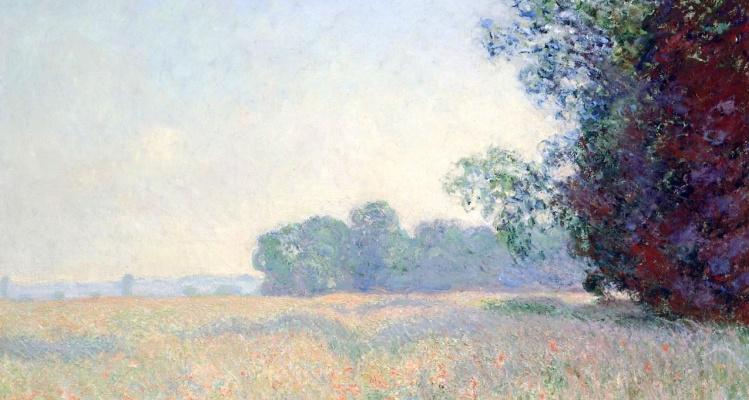 Claude Monet. Oat field