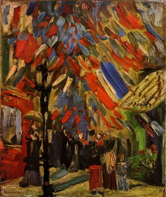 Винсент Ван Гог. Празднование 14 июля в Париже