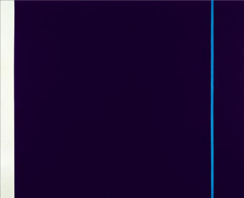 Barnett Newman. Midnight blue