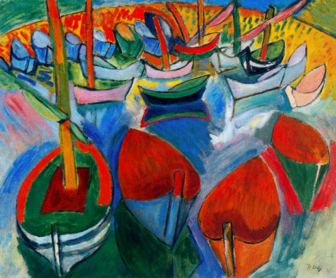 Raoul Dufy. Boats in Martigues