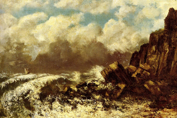 Gustave Courbet. The Sea Of Etretat