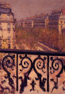 Gustave Caillebotte. A balcony in Paris