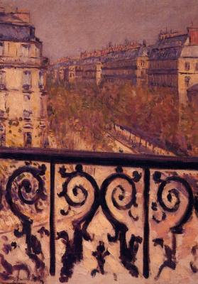 Гюстав Кайботт. Балкон в Париже