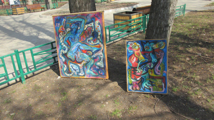 Alexander Anatolevich Safohin. Two works in nature