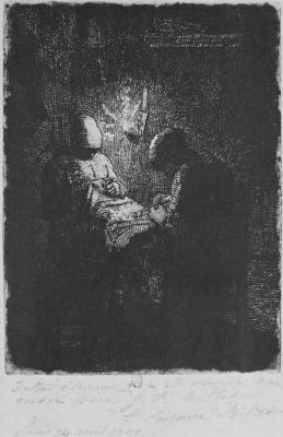 Jean-François Millet. Night shift