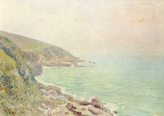 Alfred Sisley. Fog on the coast of Wales