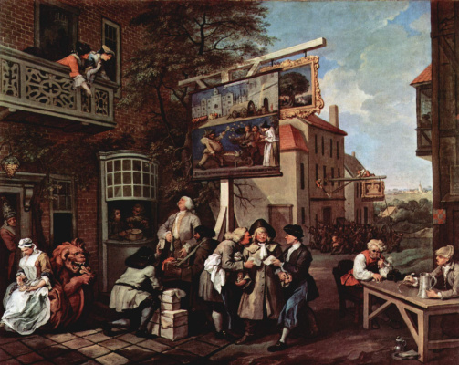 William Hogarth. Election propaganda