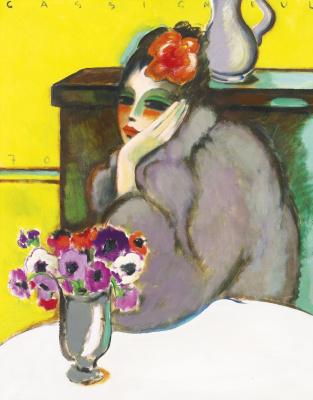 Жан-Пьер  Кассиньоль. Женщина и анемоны